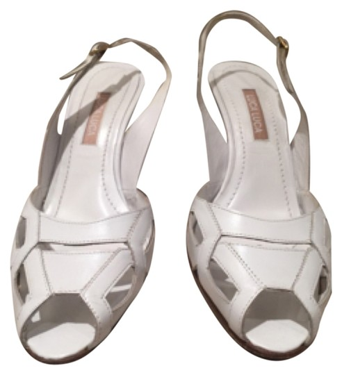 Luca Luca White Pumps