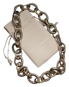 David Yurman David Yurman Oval Extra-Large Link Necklace with Gold