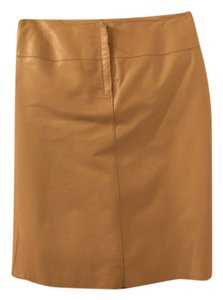Max Studio Skirt light gray leather