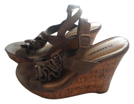 Classified Taupe Wedges