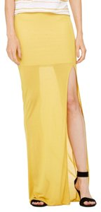 Bella Luxx Maxi Skirt Saffron yellow