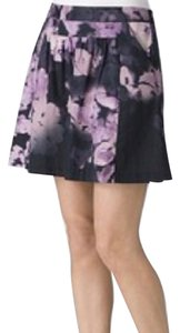Theory Mini Skirt Floral purple print