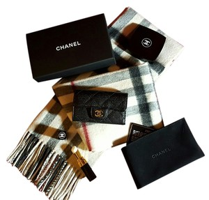Chanel Chanel Key Holder Black Caviar Keychain Wallet 6 Key Holder