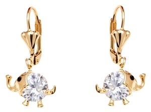 Sweet & Soft Sweet & Soft Gold and Crystal Elephant Earrings for Girls *Made with Swarovski Elements
