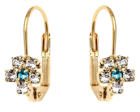 Preload https://item4.tradesy.com/images/aqua-and-clear-crystal-flower-huggie-for-girls-earrings-10364893-0-1.jpg?width=440&height=440