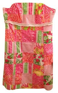 Lilly Pulitzer short dress Pink, Multi-colored Pink Buy Local on Tradesy