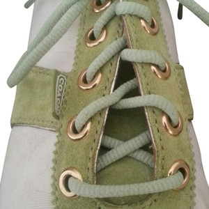 Coach Suede Never Worn Green & Cream Athletic