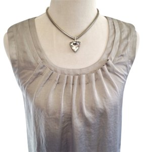 Talbots Top Silver