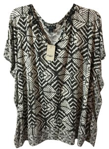 Lucky Brand Top black and ivory