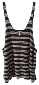 Free People In Striped Knit Knit Is Stunning On Both Sides Sooo Comfy And Soft Cotton Blend Roomy New Never Worn Purchased At Top denim, heather gray, peach