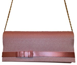 Touch Ups Evening Cross Body Satin Pink Clutch