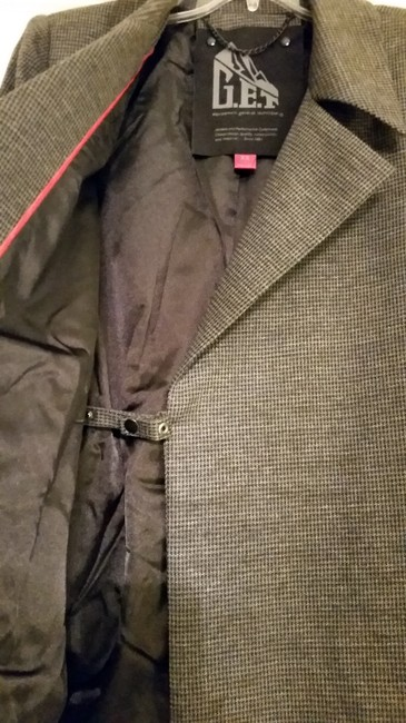 G.E.T. Outerwear Belted Mid-length Gray Jacket