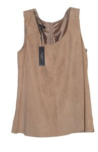 Talbots Suede Sleeveless Top Camel