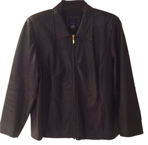 Venezia by Lane Bryant Blac Leather Jacket