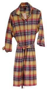 Lands End short dress Pink/blue/yellow Plaid on Tradesy