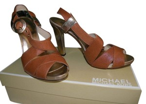 Michael Kors Brown and Gold Pumps