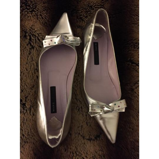 Marc Jacobs Studded Silver Flats