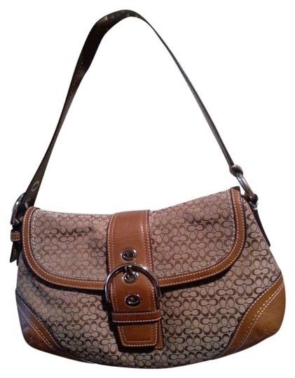Preload https://item2.tradesy.com/images/coach-brown-jacquard-and-leather-shoulder-bag-10370686-0-1.jpg?width=440&height=440