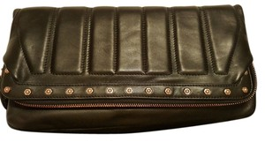 Monika Chiang Leather Soft Oversized Black Clutch