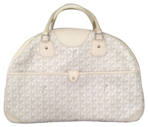 Goyard Womenswear Whit Satchel in White/Grey