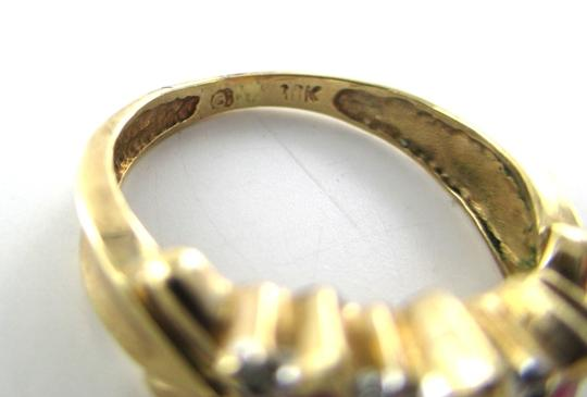 Other 10K SOLID YELLOW GOLD RING 8 DIAMONDS SZ 5.5 ENGAGEMENT 2.1 GRAMS WEDDING BAND