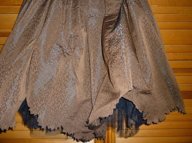 Cotélac French Smocked Strapless Uneven Hemline Dress