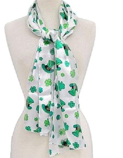 Preload https://img-static.tradesy.com/item/10374127/white-green-clover-print-st-patricks-day-satin-print-scarfwrap-0-1-540-540.jpg
