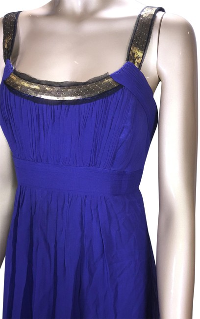 Preload https://img-static.tradesy.com/item/10374928/bcbgmaxazria-royal-purple-gold-and-black-athens-short-formal-dress-size-6-s-0-5-650-650.jpg