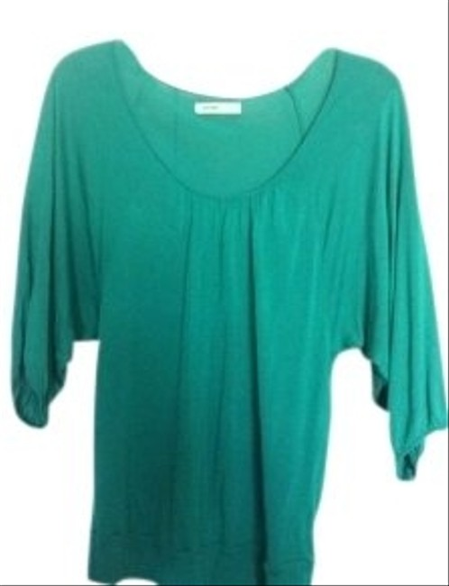 Preload https://img-static.tradesy.com/item/10375/old-navy-teal-green-12-sleeve-scoop-neck-blouse-size-6-s-0-0-650-650.jpg