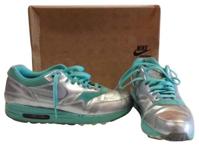Nike Mint Silver Air Max 1 Sneakers Size US 11.5 Regular (M, B) Nike Mint Silver Air Max 1 Sneakers Size US 11.5 Regular (M, B) Image 1