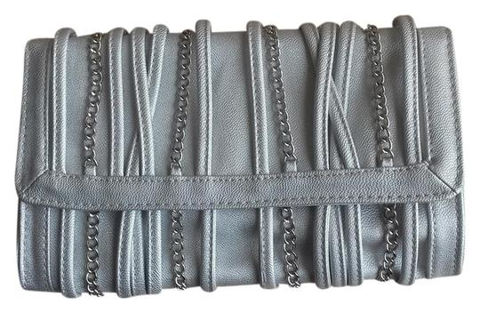 Other Chain Silk Nye Holiday Silver Clutch