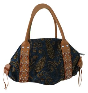 Charm and Luck Paisley Satchel in Blue*SALE*