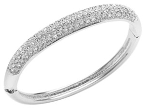 Charter Club Charter Club Silver-Tone Clear Glass Pave Bangle