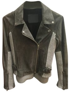 AllSaints Suede Gray Leather Jacket