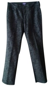 NYDJ Animal Print Straight Leg Jeans-Distressed