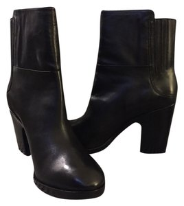 Sigerson Morrison Leahter Stacked Boot Black Boots