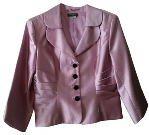 Kay Unger UNGER SKIRT SUIT Rose Pink Jacket with short black chiffon skirt