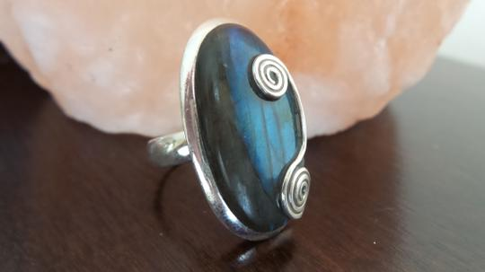 Other 925 Sterling Silver Labradorite Ring Size 6.5