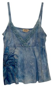 Buffalo David Bitton Floral Top Blue Tie Dye