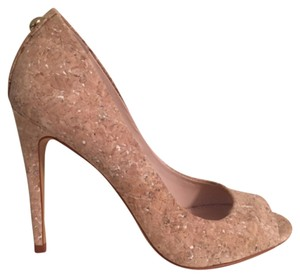 Vince Camuto White Washed Cork Pumps