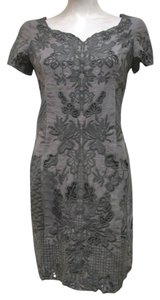 Yoana Baraschi short dress Gray Linen on Tradesy