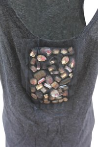 J.Crew Top Gray With Stone Work