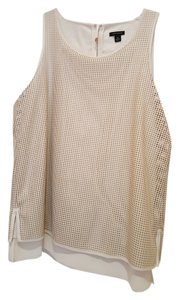 Ann Taylor Perforated Faux Leather Tunic