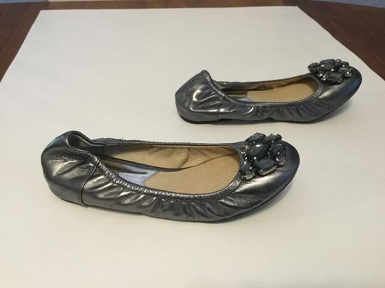 MICHAEL Michael Kors Make an offer Gunmetal leather lining leather glimmering crystals ballet Flats
