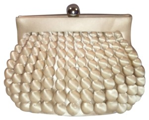 Sondra Roberts Satin Champagne (cream, Off White) Clutch