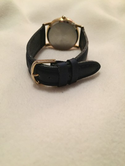 Other Collezio Women's Navy Leather Gold Faced Wrist Watch