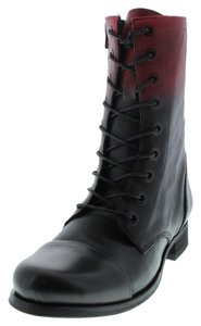 Diesel Black Red Boots
