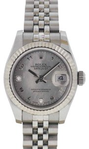 Rolex Rolex Ladies Datejust Stainless Steel Jubilee White Gold Mother of Pearl Diamond Watch 179174