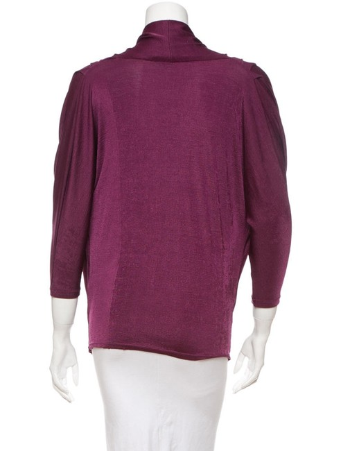 Alice + Olivia Dolman Top Burgundy/Purple