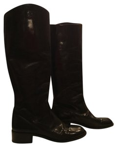 Chanel Leather Black Boots
